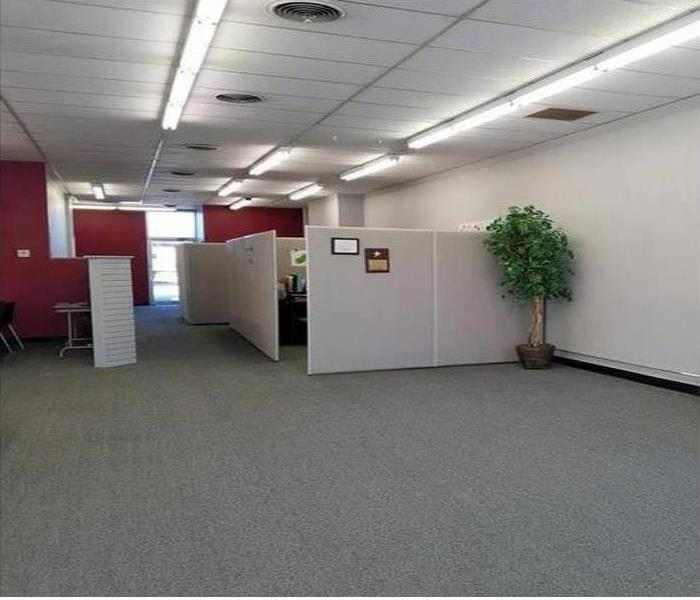 Office space restored to pre-loss condition